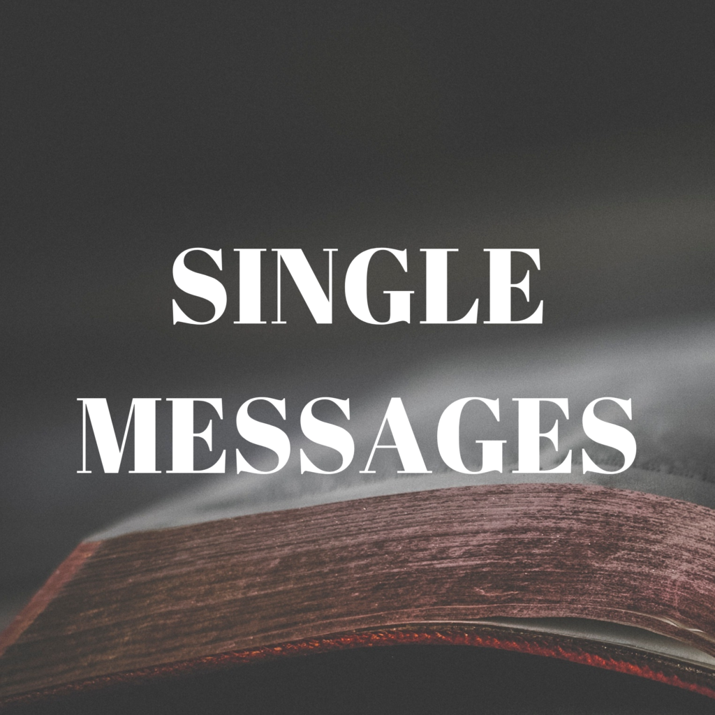 SINGLE MESSAGES (1)